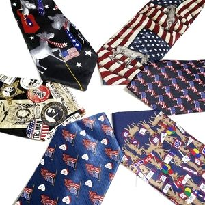 Other - Lot of 6 Political Patriotic Democratic Men's Ties